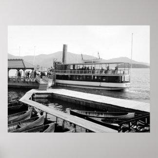 Barco de vapor en el Sagamore Hotel, 1904 Póster