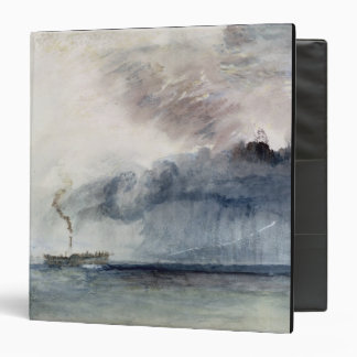 """Barco de vapor en una tormenta, c.1841 (w/c y carpeta 1 1/2"""""""