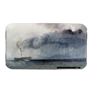 Barco de vapor en una tormenta, c.1841 (w/c y lápi iPhone 3 Case-Mate fundas