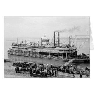 Barco de vapor Georgia Lee: 1907 Tarjeta De Felicitación