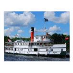 Barco de vapor Segwun Tarjeta Postal