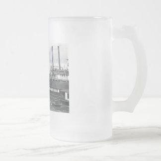 barco de vapor taza de cristal