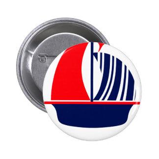 Barco de vela blanco de la marina de guerra roja pin