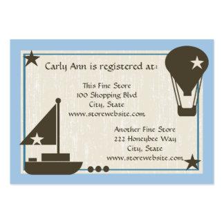 Barco de vela de la tarjeta del registro de la tarjetas de visita grandes