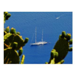 Barco de vela de Taormina Postal