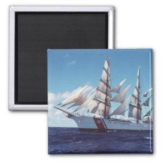 Barco de vela de USCG Eagle Imán Cuadrado