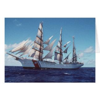 Barco de vela de USCG Eagle Tarjeta De Felicitación