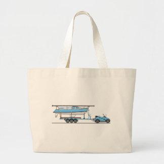 Barco de vela del coche de Eco Bolsa Tela Grande
