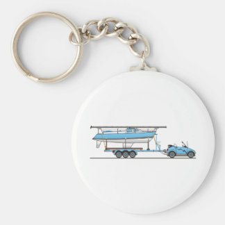 Barco de vela del coche de Eco Llavero Redondo Tipo Pin