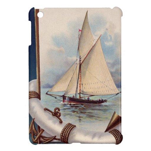 Barco de vela del vintage con el salvador, la cuer