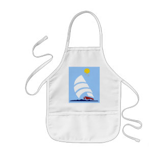 Barco de vela delantal