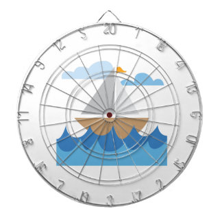Barco de vela tablero dardos