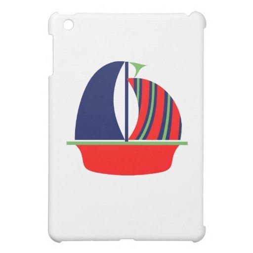 Barco de vela rojo verde de la marina de guerra