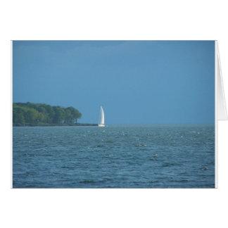 Barco de vela tarjeta de felicitación