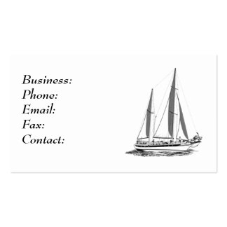 Barco de vela tarjeta de visita