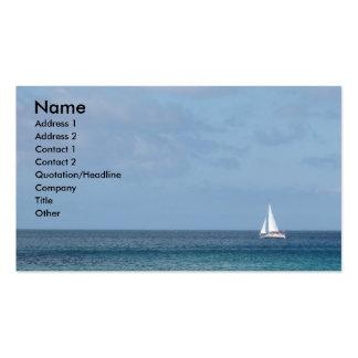 Barco de vela tarjetas de visita