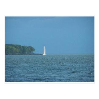 Barco de vela postales
