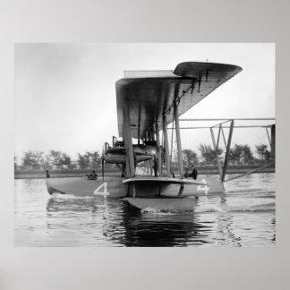 Barco de vuelo de Curtiss NC-4 de la marina de gue Póster