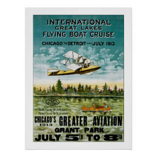 Barco de vuelo de Great Lakes Posters