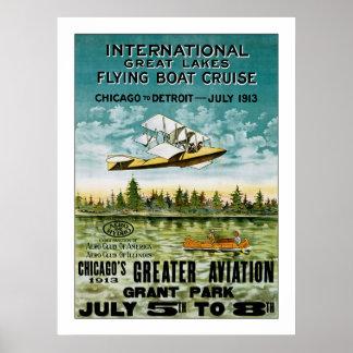 Barco de vuelo de Great Lakes Póster