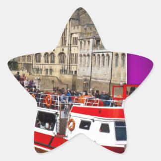 Barco de York fuera de los límites Pegatina En Forma De Estrella