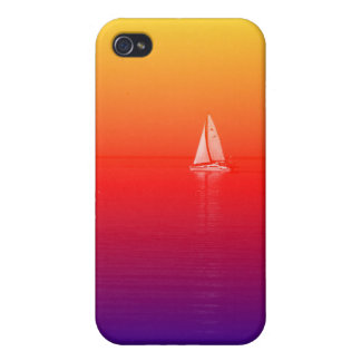 Barco del arco iris iPhone 4 carcasa