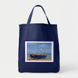Barco del azul del día de padre bolsa tela para la compra