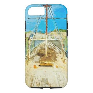 Barco del camarón bajo impresionismo del extracto funda iPhone 7