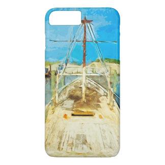 Barco del camarón bajo impresionismo del extracto funda iPhone 7 plus