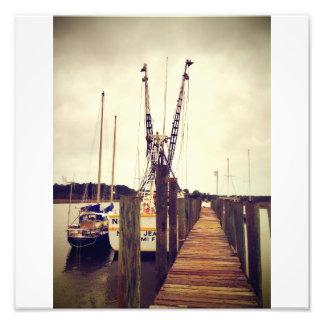 Barco del camarón de Wilmington Fotografias