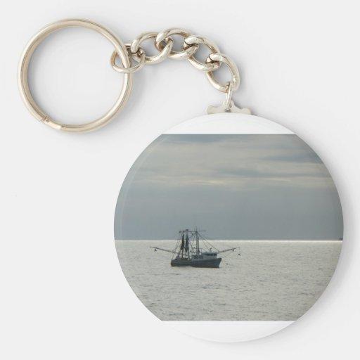barco del camarón del golfo llaveros personalizados