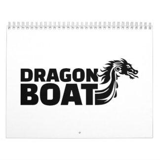 Barco del dragón calendario de pared