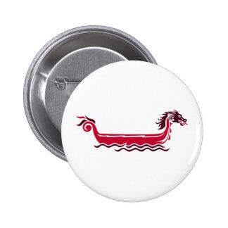Barco del dragón pin redondo 5 cm