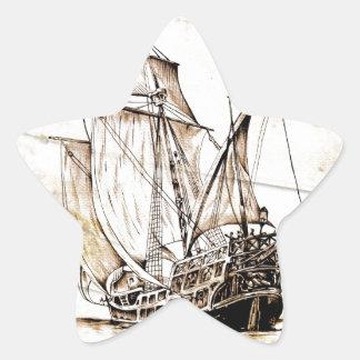 Barco del fineart F070 del vintage Pegatina En Forma De Estrella