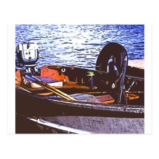 barco del fishin tarjeta postal