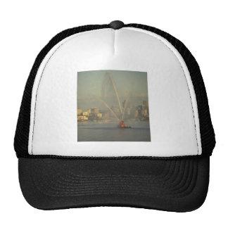 Barco del fuego, puerto de Sydney, Australia Gorro De Camionero