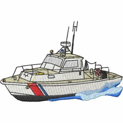 Barco del guardacostas sudadera bordada