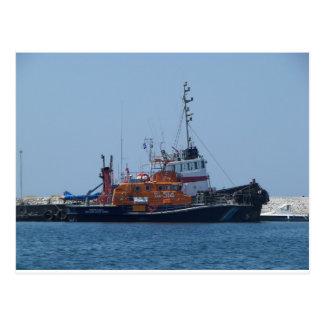 Barco del guardacostas y barco del tirón postales
