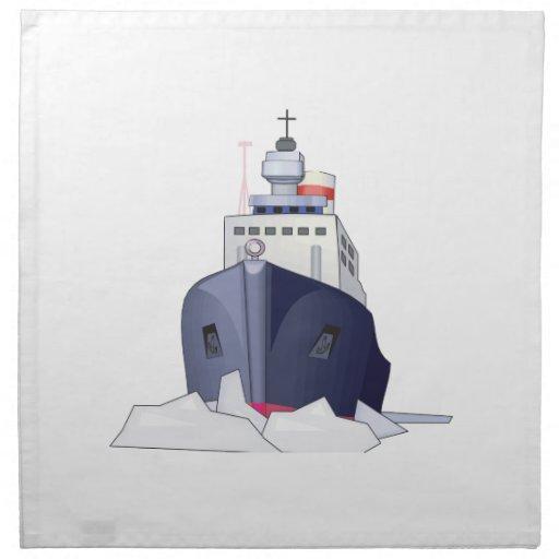 Barco del hielo servilletas de papel