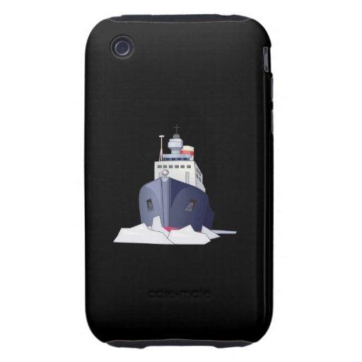 Barco del hielo tough iPhone 3 coberturas