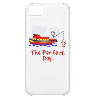 Barco del hombre de la pesca funda para iPhone 5C