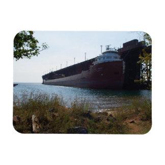 Barco del mineral en Marquette MI - imán del refri