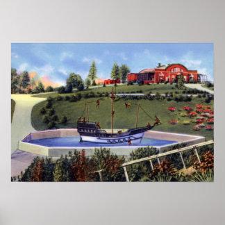 Barco del mono del parque de Evansville Indiana Me Posters