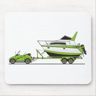 Barco del poder del coche de Eco Alfombrilla De Ratones