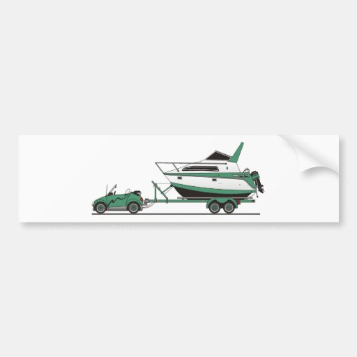 Barco del poder del coche de Eco Pegatina De Parachoque
