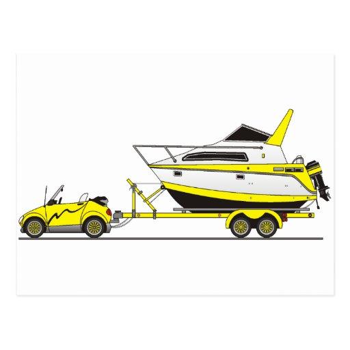 Barco del poder del coche de Eco Postales