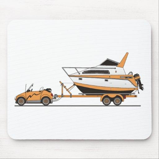 Barco del poder del coche de Eco Tapetes De Ratones