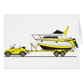 Barco del poder del coche de Eco Tarjeta De Felicitación