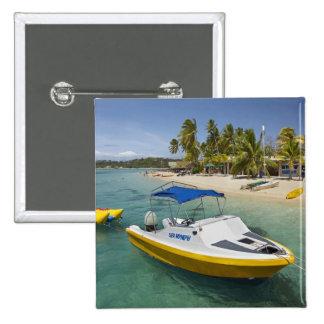 Barco del Powerboat y de plátano Pin