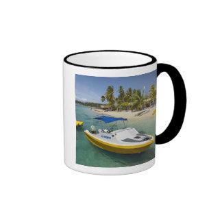 Barco del Powerboat y de plátano Tazas De Café